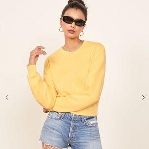 Reformation // Hunter Sweatshirt in Yellow